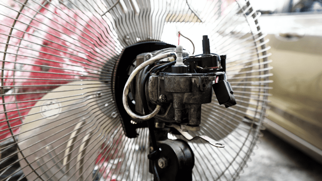 How to clean table fan motor